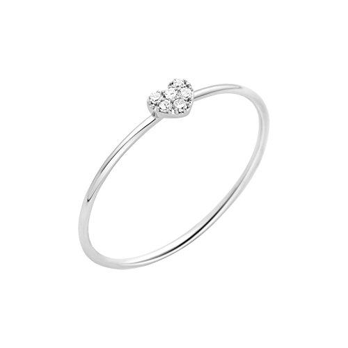 Miore - Anillo de oro blanco con diamante.03