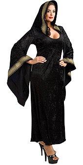 Kostüm Priesterin Gothic - Rubie's Damen Kostüm Gothic Mitternachts Priesterin Hexe Vampir Größe L/XL