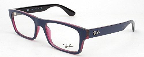 Ray Ban Optical Montures de lunettes RX7030 Pour Homme Matte Black / Transparent, 53mm 5398: Blue / Transparent Violet