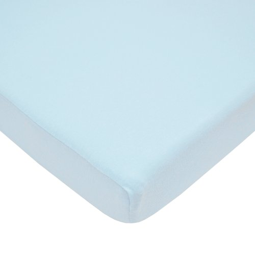 American Baby Company 100% Cotton Value Jersey Knit Fitted Pack N Play Sheet, Blue