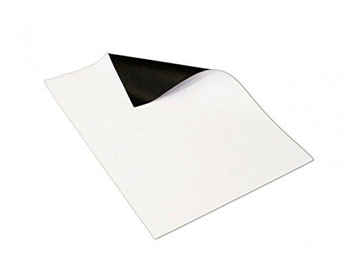 Magnetfolie weiß matt beschichtet DIN A4 Format - 210 x 297 x 0,8mm - flexibel, mit Digitaldruck...