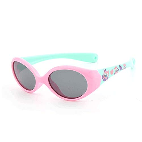 FGRYGF-eyewear Sport-Sonnenbrillen, Vintage Sonnenbrillen, Little Kids Sunglasses Polarized For 1 2 3 Years Old Children Eyeglasses For Baby TR90 Flexible Safety Shades Boy Girl With Rope C3