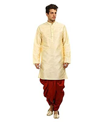 Larwa Men's Ceremony Wear Kurta=Dhoti Set Special for Diwali