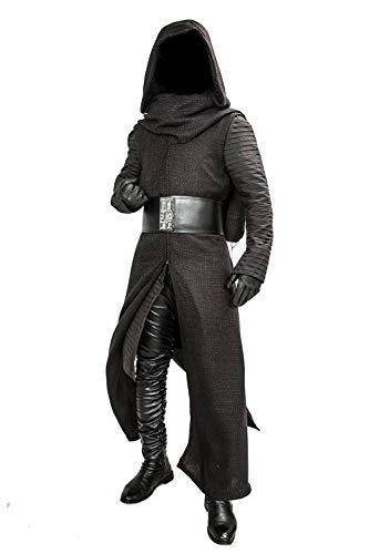 Pandacos Kylo Ren Kostüm Cosplay Costume Deluxe Outfit aus Star Wars Film Zubehör für Karneval und (Film Characters Halloween Kostüme)