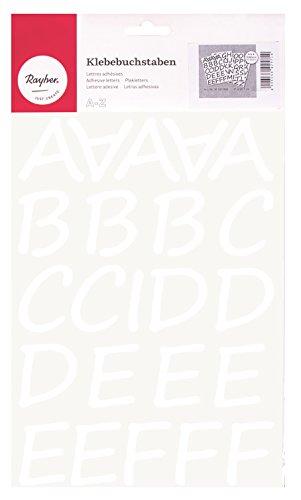 RAYHER 38923000 Klebebuchstaben Schreibschrift, 5 cm, DIN A4, selbstklebend, SB-Beutel 4Blatt