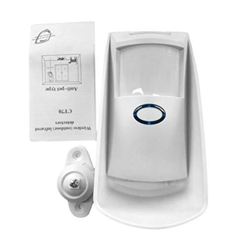 LoveOlvidoD Beweglicher im Freien drahtloser Doppelinfrarot-Mikrowellenfilter Bewegungsmelder-Sensor-niedriger Verbrauch für inländisches Wertpapier CT70S