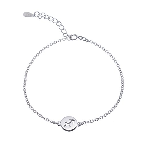 GOOD.designs Sternzeichen Armkettchen in Silber mit Horoskop Anhänger, Armkette für Damen (Schütze (Sagittarius))
