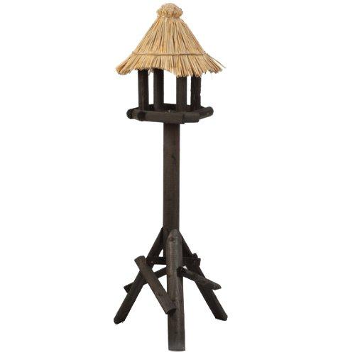 Beeztees 48105 Vogelhaus - Morito aus Holz, 40 x 40 x 140 cm, schwarz