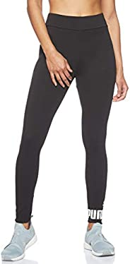 PUMA - Ess Logo Leggings, Pantaloni Compressione Donna