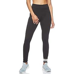 Puma Women's Ess Logo Leggings Pants, Cotton Black, S