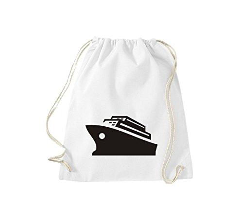Shirtstown gymsac passagers de navires de croisière, paquebot, plusieurs couleurs Blanc - Blanc