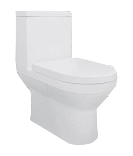 Hindware Berlin 92513 Ceramic Floor Mounted Water Closet (White ,One Piece)