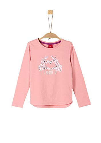 s.Oliver Mädchen 53.908.31.8666 T-Shirt, Rosa (Light Pink 4273), 116 (Herstellergröße: 116/122/REG)
