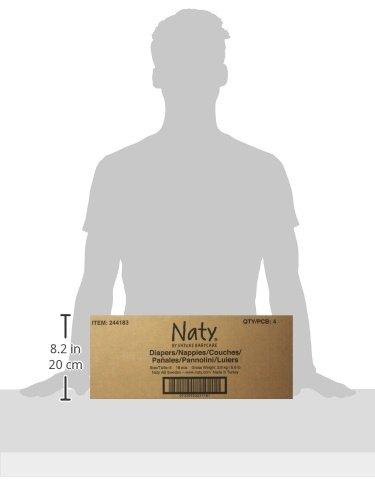 Naty by Nature Babycare Ökowindeln – Größe 6 (16+ Kg), 4er Pack (4 x 18 Stück) - 6
