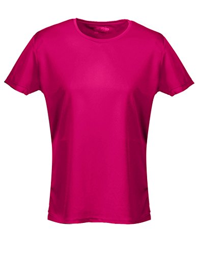 Just Cool Damen Sport T-Shirt unifarben (Small) (Dunkles Pink) S,Dunkles Pink
