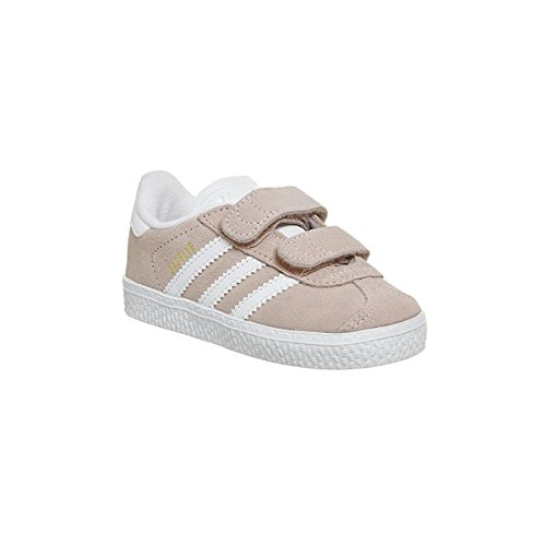Adidas gazelle cf i, scarpe da fitness unisex-bambini, rosa (roshel/ftwbla/ftwbla 000), 25 eu