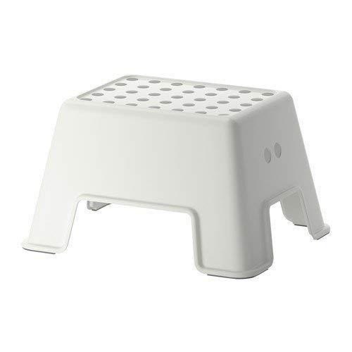Ikea Tritthocker Bolmen rutschfester Badezimmerhocker 44x35x25cm, bis 150kg, weiß