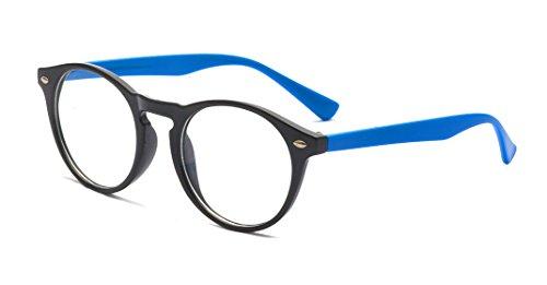 ALWAYSUV Klassische Oval PC Klare Lens Rahmen Brillenfassung