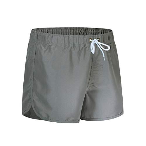 CAOQAO Pantaloni da Uomo Pantaloncini Jeans/Primavera Estate Moda Cintura Cintura Spiaggia Sport Surfing Spiaggia Pantaloni da Spiaggia/Grigio/M-XXL