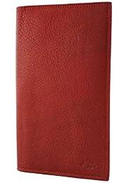 Vanity - Porte Chequier, Porte Cartes, Katana, Cuir Vachette Sauvage, 11 X 19,2 (rouge)