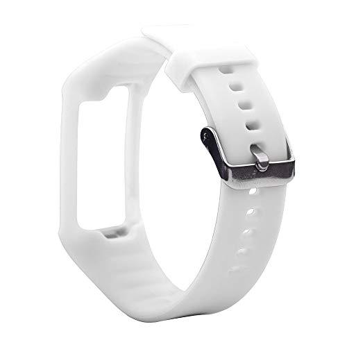 LUOFUSHENG Smartwatch-Uhrenarmbänder Silikon-Sporthandgelenksschlaufe for Polar A360 / A370 (Schwarz) Ersatzarmbänder (Farbe : Weiß)