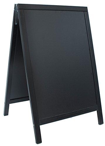 Witterungsbeständige Gehwegtafel / Standtafel / Sandwichboard / Aufsteller / Kundenstopper, schwarz | Gr. 55 cm x 85 cm