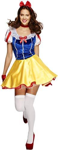 Fever, Damen Märchen Kostüm, Kleid, Unterrock, Haarreifen und Halsband, Größe: S, - Einfach Paar Disney Kostüm