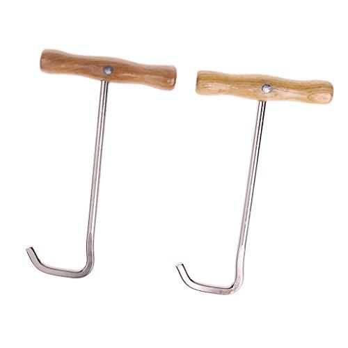 Sharplace 2 pcs Stiefelanzieher - aus Metall mit Holzgriff