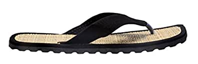 Tripssy Men's Black Cotton Slippers - 10 UK