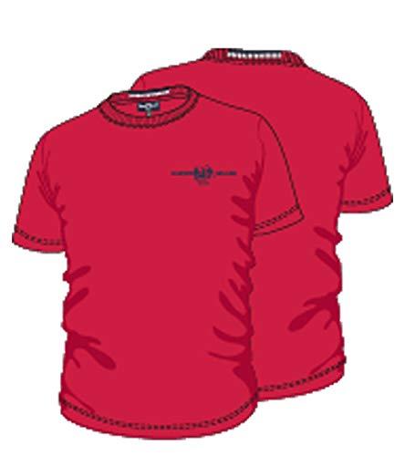 e431ed2c3 HARVEY MILLER POLO CLUB T-Shirt à Manches Courtes pour Hommes Modernes  Rouge, Taille