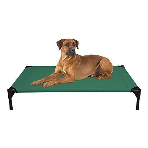 Veehoo Kühl Erhöhte Hundebett, Hundeliege Outdoor für Klein, Mittelgroße, Grosse Hunde, aus Waschbar & Dauerhaft Textilene Netzstoff, L, Grün