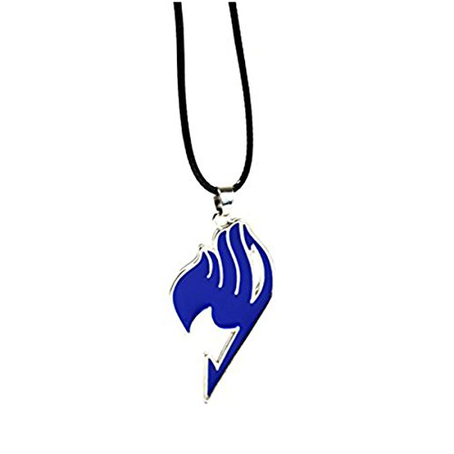 Cosplay Anime Fairy Tail Guild Logo Anhänger - Natsu Halskette in Geschenkbox (Anime Tail Halskette Fairy)