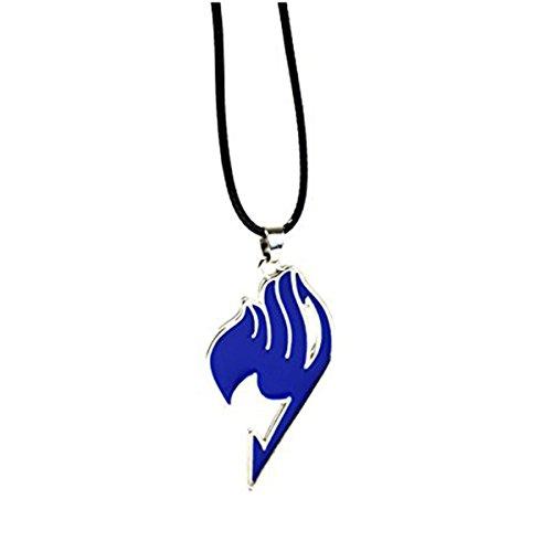 Cosplay Anime Fairy Tail Guild Logo Anhänger-Natsu Halskette in Geschenkbox (Halskette Fairy Anime Tail)