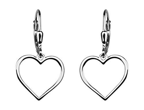 SOFIA MILANI Damen Ohrringe Ohrhänger Herz Silber 20504