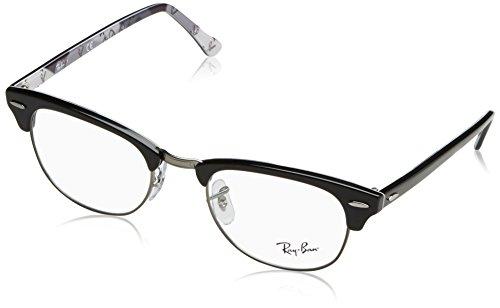 Rayban Unisex-Erwachsene Brillengestell RX5154, Schwarz (Black On Texture Camuflage), 49