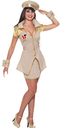 erdbeerloft - Damen Karnevalskomplett Kostüm General Soldatin, M, (Winter Soldat Shirt Kostüm)