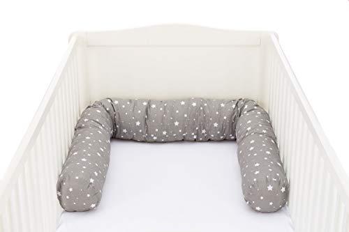 Fillikid letto serpente 190cm   paracolpi serpente per paracolpi baby letto traspirante   baby, 100% cotone   letto rotolo per culla, lettino, culla