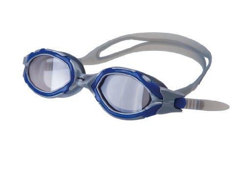 Fashy 4174 Schwimmbrille Ospray mit polarisierte PC Linse, Antibeschlag & UV-Schutz - Silber/Blau