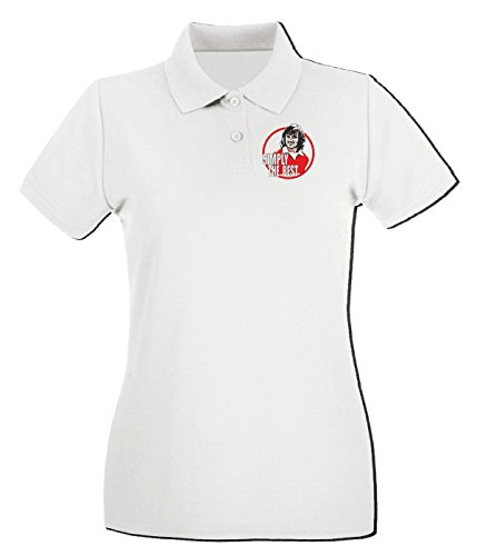 T-Shirtshock - Polo pour femme WC0554 Simply the Best Blanc