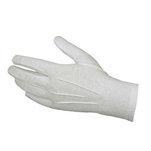 Longra 1 Paar Weiße unisex formale Ehrenwache 22.5cmX8.7cm Handschuhe Smoking Ehrenwache Parade Santa Männer Inspektion (Kostüm Security Kind Guard)