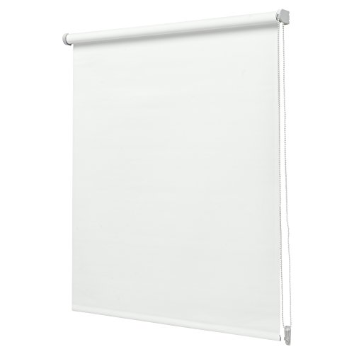 Intensions - Estor Enrollable, Liso, Opaco, Color Blanco, poliéster, Blanco, 120x190cm
