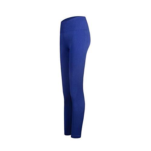 ManYFas Peach Hip Fitness Pants Women Nahtlose hohe Taillen-dünne Yoga-Hosen trocknen schnell Breathable-Hose (Farbe : Blau, Size : M) -