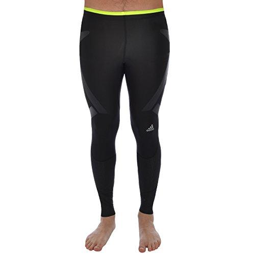 AS il TI-Pantaloni aderenti Adidas da Running, da uomo Nero