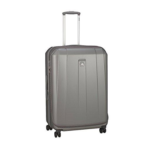 4 ruote valigia trolley dimensione L 76 cm estensibile argento, marchio francese Delsey collezione Helium Shadow