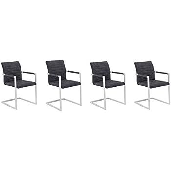 freischwinger stuhl imperial vintage grau mit gepolsterten. Black Bedroom Furniture Sets. Home Design Ideas