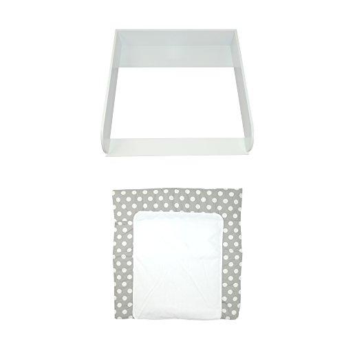 """Wickelaufsatz\""""15cm hoch\"""" in weiß für IKEA Hemnes Kommode + Wickelauflage\""""Punkte\"""""""