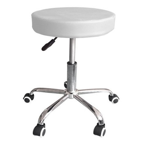 Mari lifestyle sgabello da massaggio alzata a gas | design leggero e ortopedico | imbottitura in schiuma 7,5 cm e struttura solida | sedile girevole e altezza regolabile | 37.5x37.5x47-59.5cm