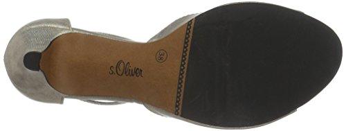 s.Oliver 28300, Sandales Bout Ouvert Femme Or (Champagner 404)