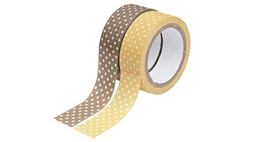[Juego de 2rollos] Daiso Japón cinta de carrocero marrón lunares 1,5cm × 6m