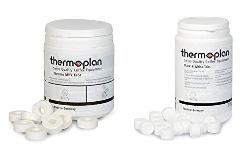 Thermoplan | Black & White 3 One Tab-Set | Bundle für 3 Monate | 3 Dosen Thermo Milk Tabs + 2 Dosen...